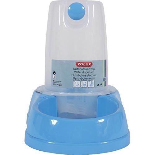 distributeur d 39 eau 1 5 litres bleu pour chat et chien zolux achat vente fontaine eau. Black Bedroom Furniture Sets. Home Design Ideas