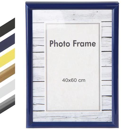 cadre photo 40 x 60 cm en 6 coloris jaune achat vente cadre photo cdiscount. Black Bedroom Furniture Sets. Home Design Ideas