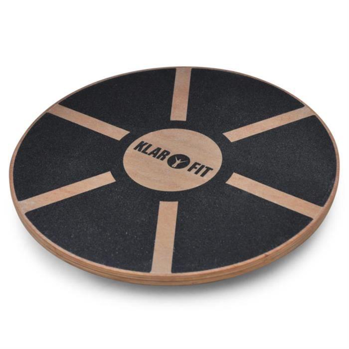 klarfit planche d equilibre bois diam tre 37 5cm. Black Bedroom Furniture Sets. Home Design Ideas