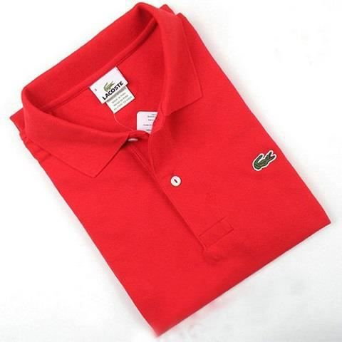 Polo Lacoste Homme manches courtes ROUGE Achat / Vente polo