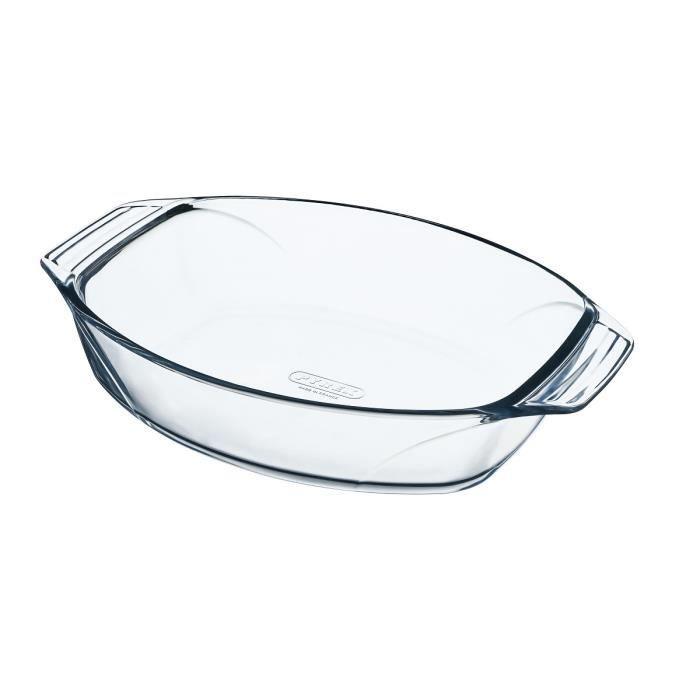 pyrex plat four ovale 40x28 cm transparent achat vente plat pour four plat four 40x28. Black Bedroom Furniture Sets. Home Design Ideas