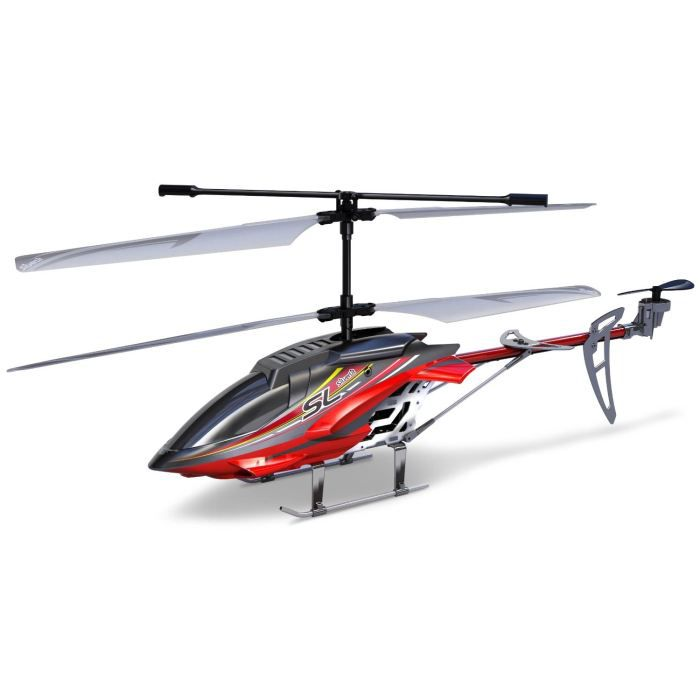 Silverlit sky hercules h licopt re rouge 3c gyro achat for Interieur helicoptere
