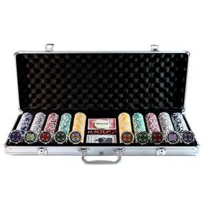 MALETTE POKER 500 Poker Chips with Aluminiumcase (11.5 Gramm....