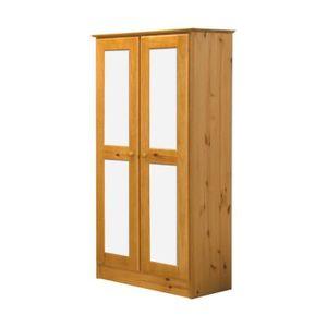 armoire deux portes blanc achat vente armoire deux portes blanc pas cher soldes cdiscount. Black Bedroom Furniture Sets. Home Design Ideas