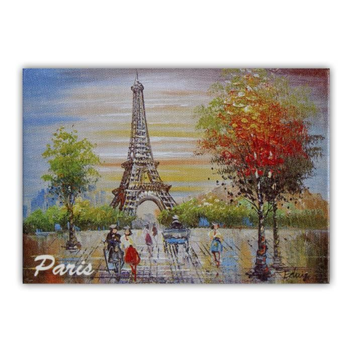 magnet paris peinture de la tour eiffel paysage souvenirs de paris achat vente aimants. Black Bedroom Furniture Sets. Home Design Ideas