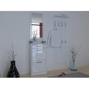 Ensemble de meubles de rangement pour hall entr e blanc - Meuble de rangement hall d entree ...
