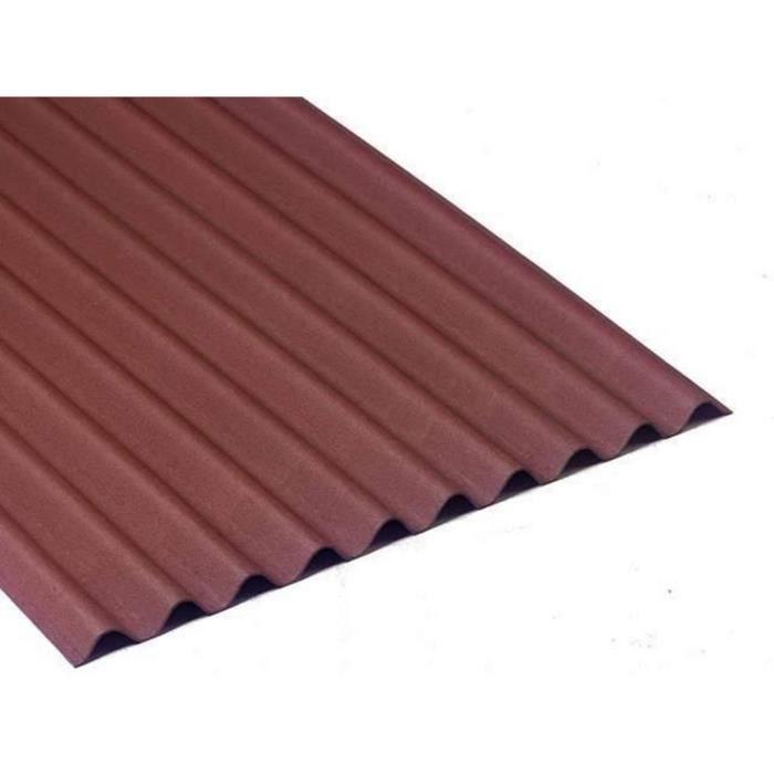 plaque de toiture bitum e longueur 2m rouge achat. Black Bedroom Furniture Sets. Home Design Ideas