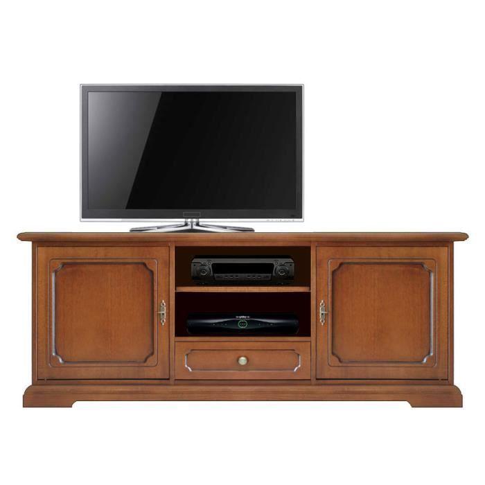 meuble pour t l viseur bas classique 2 portes achat vente meuble tv meuble bas pour. Black Bedroom Furniture Sets. Home Design Ideas