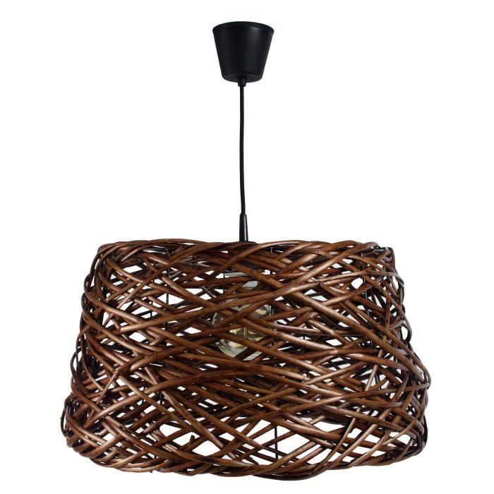 occitane suspension boule en osier 40 cm gris achat vente occitane suspension 40cm gris. Black Bedroom Furniture Sets. Home Design Ideas