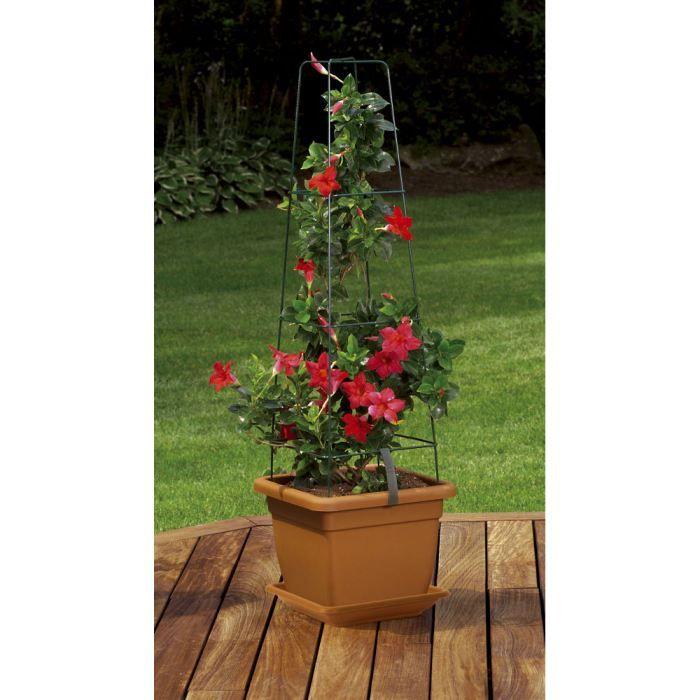pot fleurs grimpantes 9 litres babel avec treil achat vente jardini re pot fleur pot. Black Bedroom Furniture Sets. Home Design Ideas