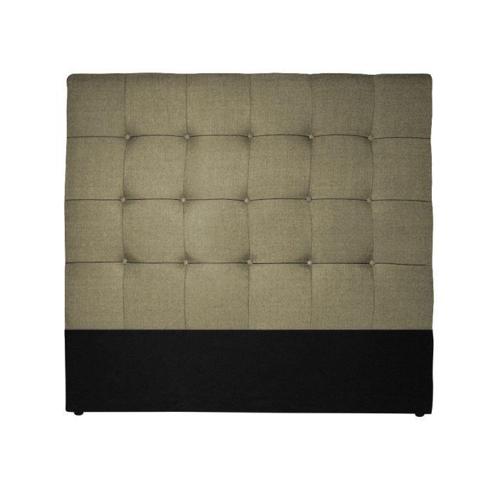 t te de lit luxor 140cm gris effet lin achat vente. Black Bedroom Furniture Sets. Home Design Ideas