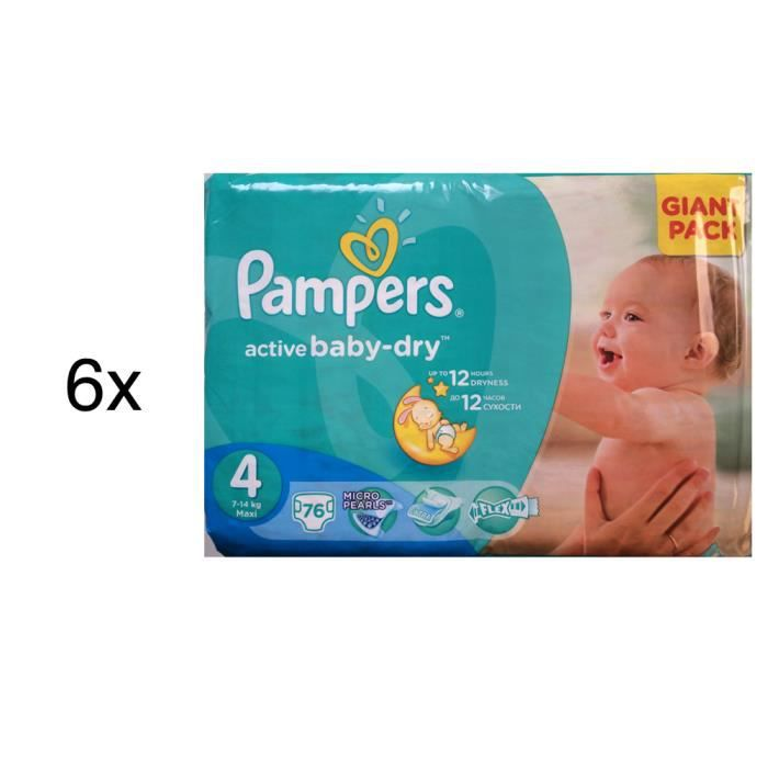 456 couches pampers active baby dry taille 4 achat. Black Bedroom Furniture Sets. Home Design Ideas