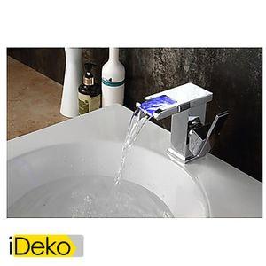 Robinet lavabo achat vente robinet lavabo pas cher les soldes sur cdis - Robinet led salle de bain ...