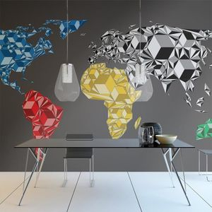 papier peint carte du monde achat vente papier peint. Black Bedroom Furniture Sets. Home Design Ideas