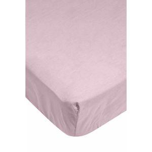 drap housse rose 90x190 achat vente drap housse rose 90x190 pas cher cdiscount. Black Bedroom Furniture Sets. Home Design Ideas