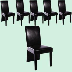 lot de 6 chaises de salle 224 manger achat vente chaise