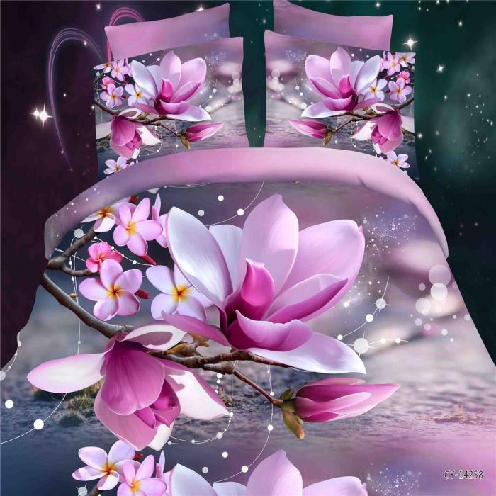 Parure de couette parure de lit belle mauve motif 1 housse - Belle housse de couette ...