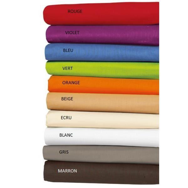 drap housse 200x220 cm pour lit boxspring couleur bleu gamme clara 100 coton achat vente. Black Bedroom Furniture Sets. Home Design Ideas