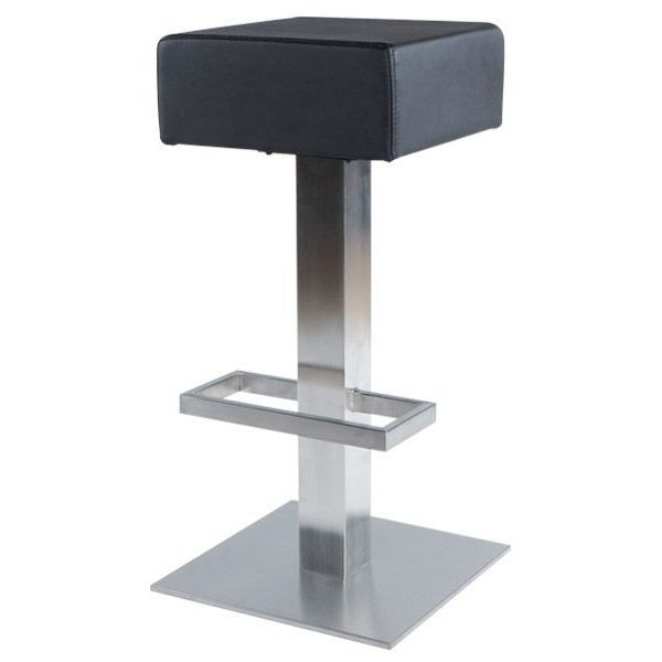 Tabouret De Bar Carre : Tabouret carré design de bar square noir achat vente