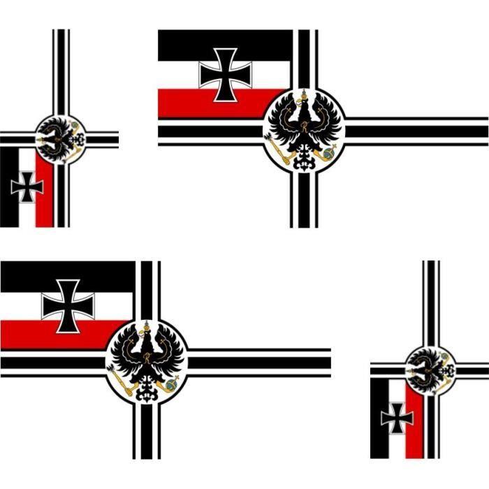 4 autocollant sticker drapeau allemagne wwi achat vente d coration v hicule set de 4 sticker. Black Bedroom Furniture Sets. Home Design Ideas