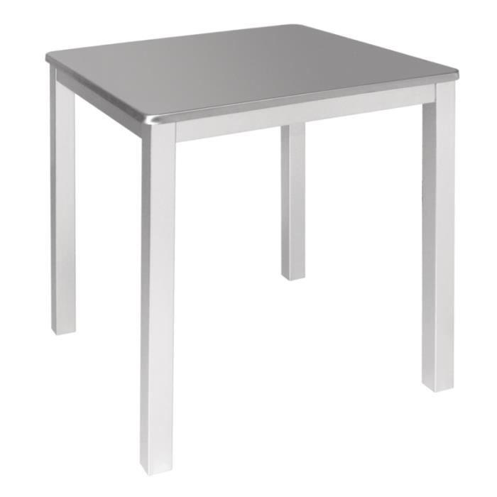 simple table bistro carr e en inox achat vente mange debout simple table bistro carr e. Black Bedroom Furniture Sets. Home Design Ideas