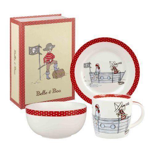 Belle and boo set petit d jeuner en porcelaine 3 pi ces for Set petit dejeuner porcelaine