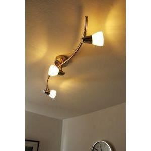 luminaire lustre lampe 3 spots sur rail clairage achat vente luminaire lustre lampe 3 sp. Black Bedroom Furniture Sets. Home Design Ideas