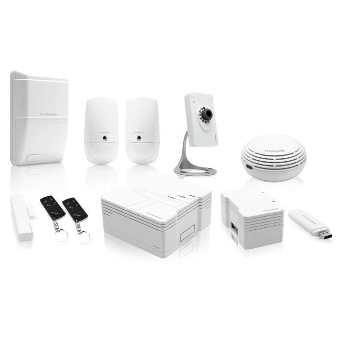 thomson pack s curit premium alarme maison connect e 510764 achat vente kit alarme soldes. Black Bedroom Furniture Sets. Home Design Ideas