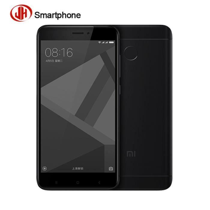 xiaomi redmi 4x noir mat 16 go smartphone d bloqu achat smartphone pas cher avis et meilleur. Black Bedroom Furniture Sets. Home Design Ideas