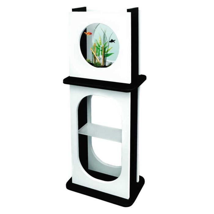ensemble aquarium aqua fashion blanc et noir achat. Black Bedroom Furniture Sets. Home Design Ideas