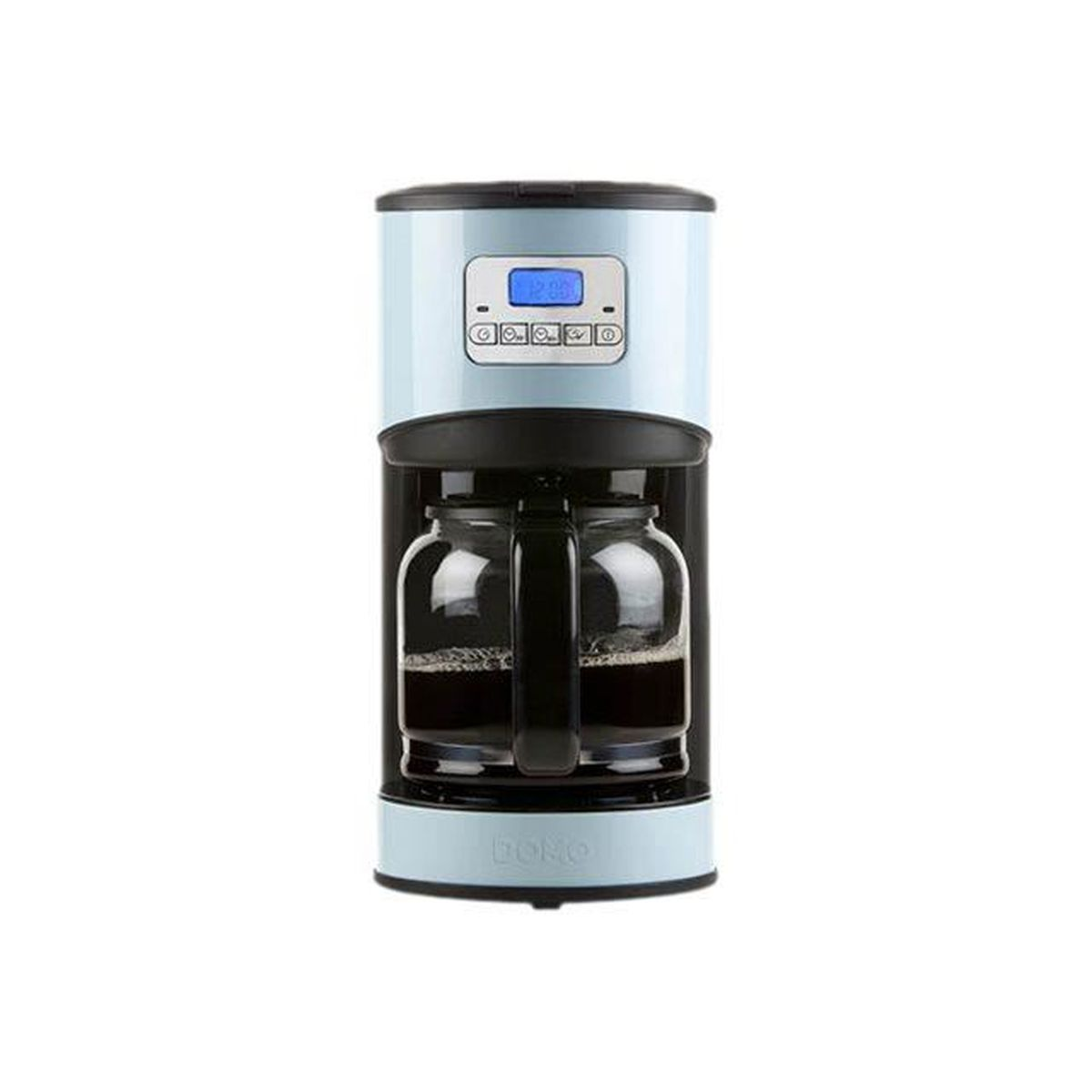 domo cafeti re lectrique programmable ecran lcd design bleu 12 tasses 1 8l achat. Black Bedroom Furniture Sets. Home Design Ideas