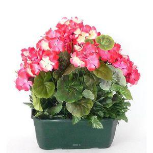 Fleurs artificielles pour l exterieur achat vente for Geranium artificiel jardiniere