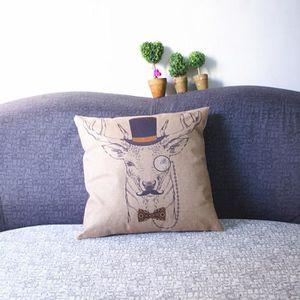 coussin cerf achat vente coussin cerf pas cher cdiscount. Black Bedroom Furniture Sets. Home Design Ideas