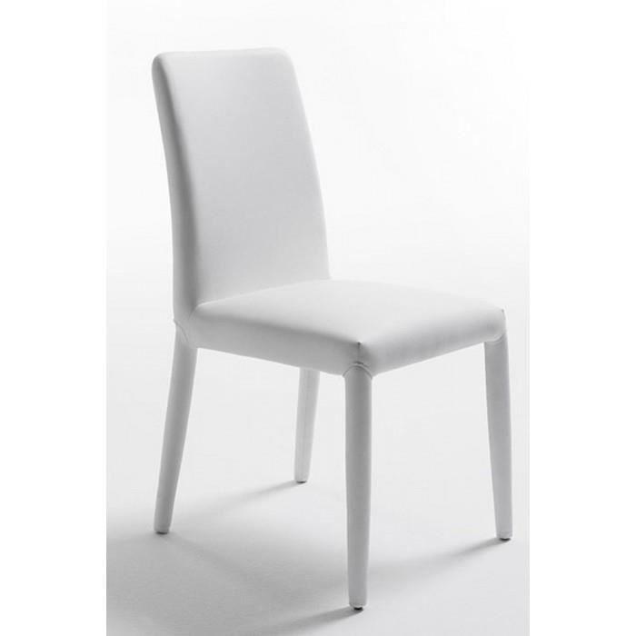 Chaises salle manger blanches design clessie achat vente chaise blanc - Chaises blanches design ...