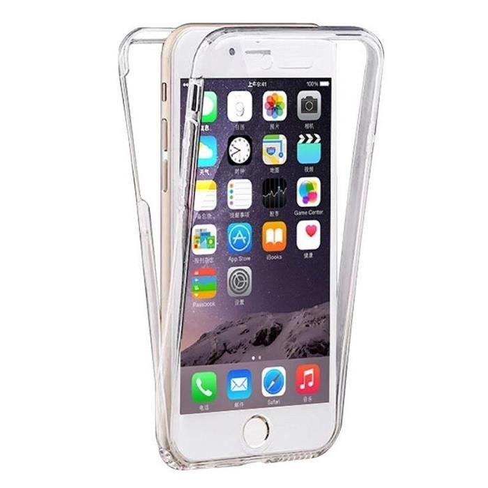 coque gel iphone 7 4 7 pouces 360 degres protection integral anti choc etui ultra mince. Black Bedroom Furniture Sets. Home Design Ideas
