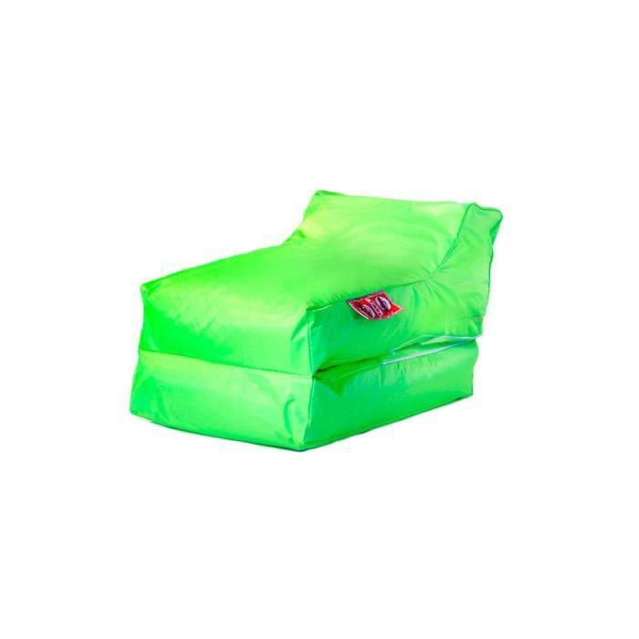 housse de pouf chauffeuse lounger vert achat vente pouf poire vert cdiscount. Black Bedroom Furniture Sets. Home Design Ideas