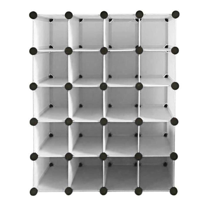 penderie rangement placard 20 paires de cube organisateur achat vente armoire de chambre. Black Bedroom Furniture Sets. Home Design Ideas