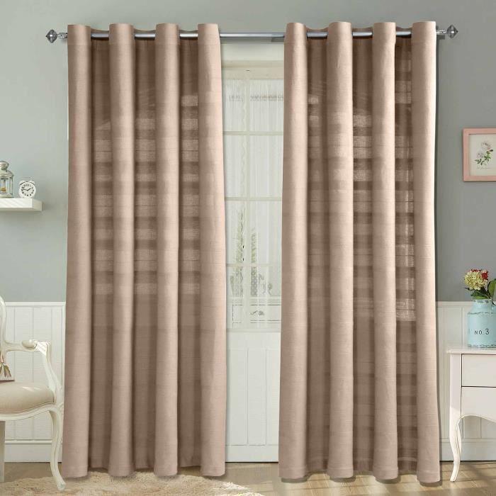 paire de rideaux oeillets rajput tiss main beige 137 x 137 cm achat vente rideau. Black Bedroom Furniture Sets. Home Design Ideas