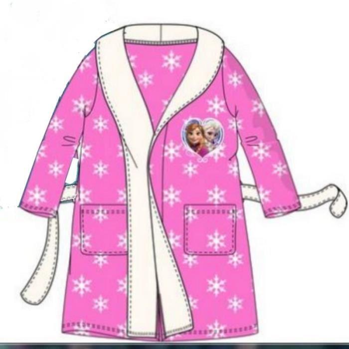 robe de chambre la reine des neiges flocons rose achat vente chemise de nuit cdiscount. Black Bedroom Furniture Sets. Home Design Ideas