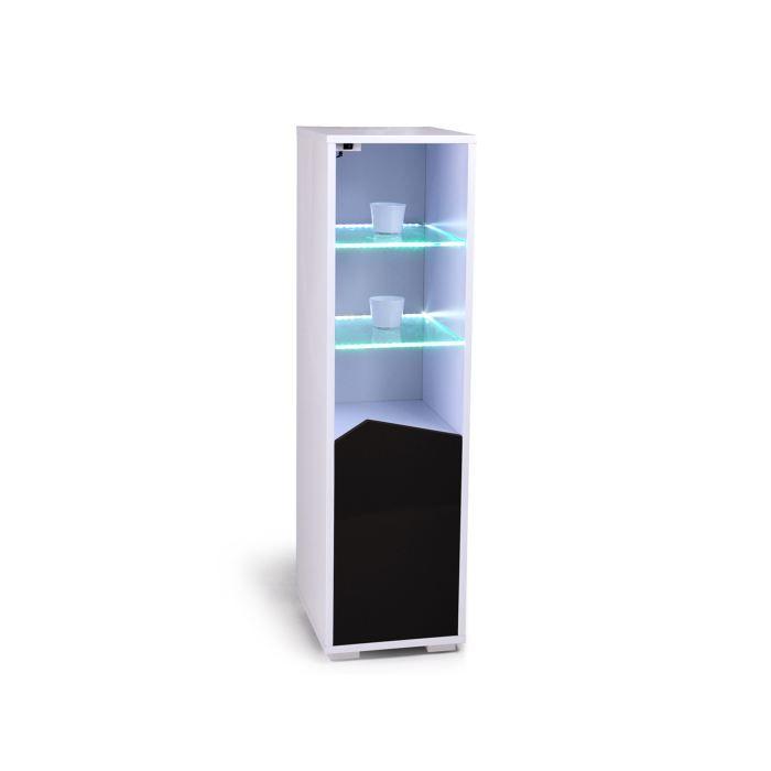 colonne de rangement laqu e lumineuse milazo 4 achat vente petit meuble rangement colonne de. Black Bedroom Furniture Sets. Home Design Ideas
