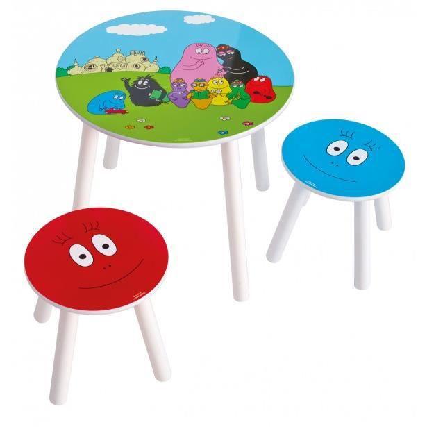 Table et 2 chaises barbapapa achat vente table et - Table et chaise barbapapa ...