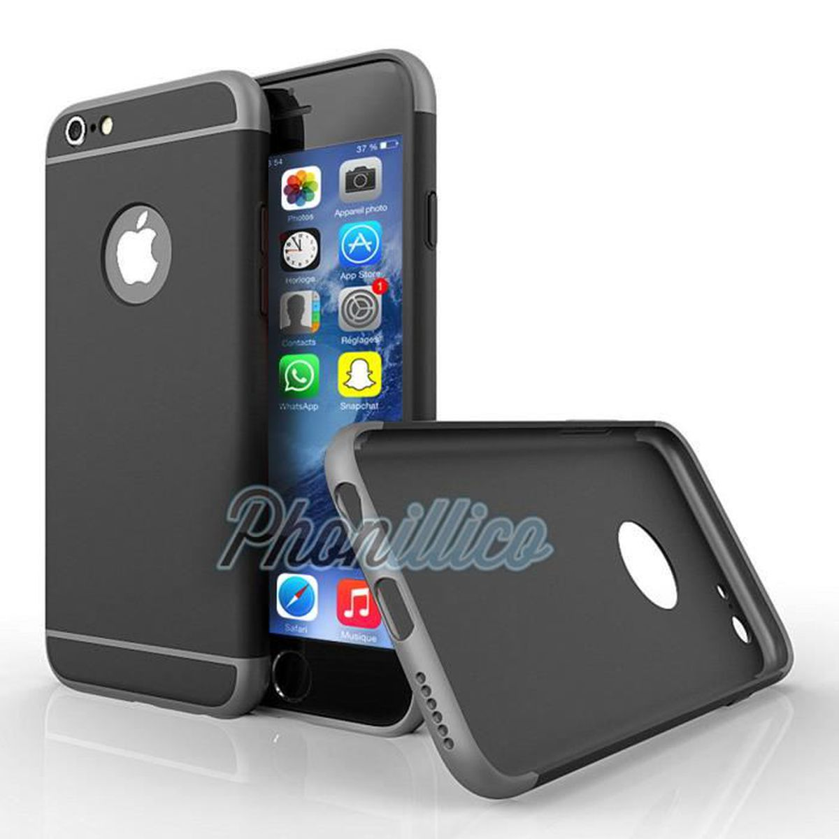 coque armor shockproof noir film verre iphone se. Black Bedroom Furniture Sets. Home Design Ideas