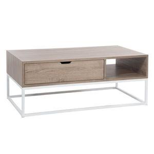 Table Salon Rec Bs/Met Nat/Bl 110x60x43cm