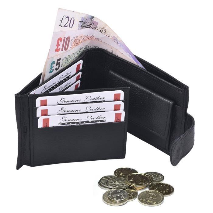 Portefeuille homme luxe en cuir souple v ritable haute qualit porte carte noir achat - Porte carte cuir homme luxe ...