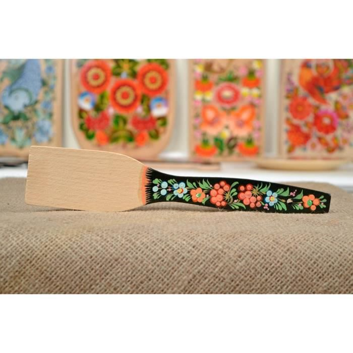 spatule en bois fait main couvert de table peint original d co cuisine achat vente spatule. Black Bedroom Furniture Sets. Home Design Ideas