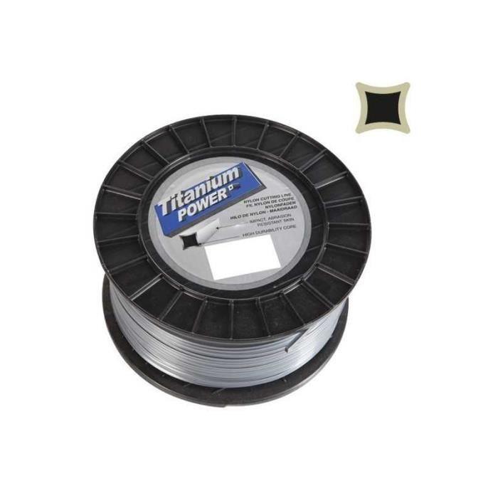 fil d broussailleuse nylon titanium carr 3mm par 132m en bobine achat vente. Black Bedroom Furniture Sets. Home Design Ideas