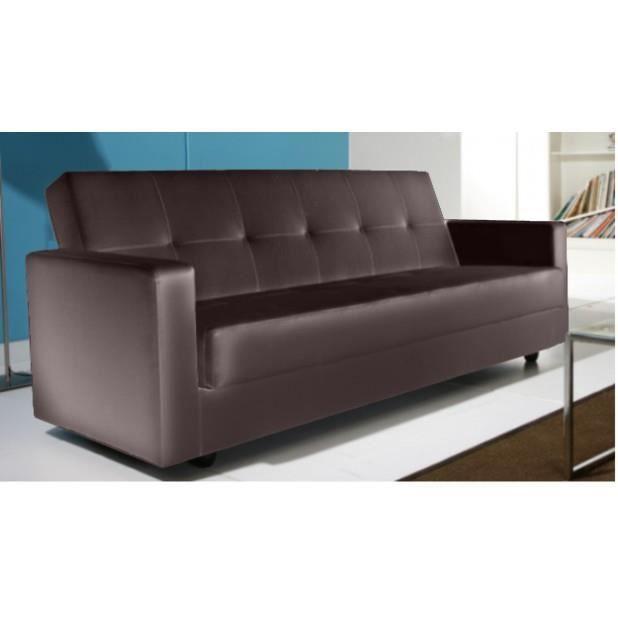 magnifique canape odin marron convertible cuir pu coffre de rangement achat vente canap. Black Bedroom Furniture Sets. Home Design Ideas