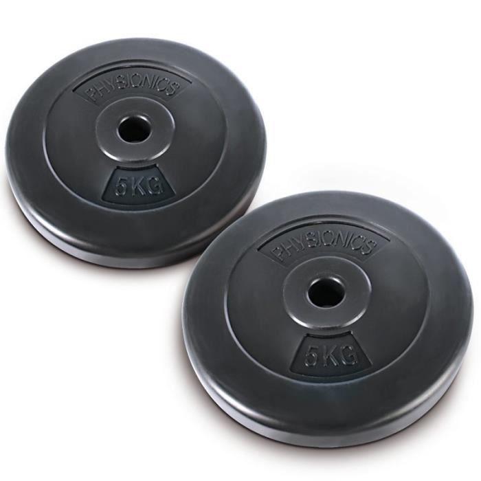2 x disques d 39 halt res poids 5 kg sport fitness for Barre de danse occasion