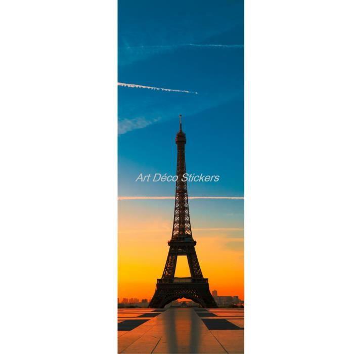 Affiche poster format porte d co tour eiffel dimensions 63x204cm achat vente affiche - Tour eiffel deco ...