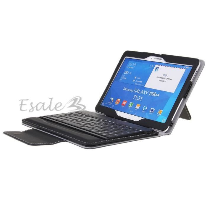 clavier bluetooth keyboard amovible housse pour samsung. Black Bedroom Furniture Sets. Home Design Ideas